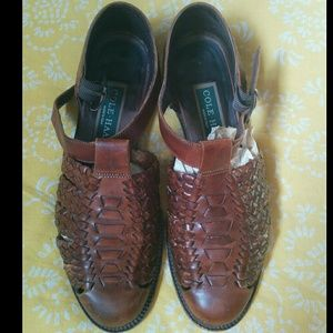 Cole Haan Brown Italian Leather Sandals/Loafer.